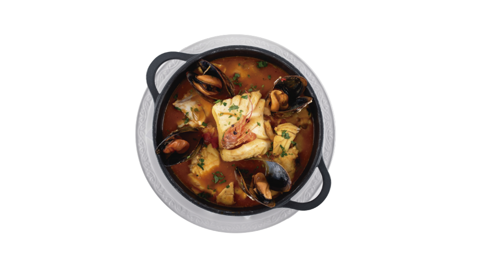 Zarzuela de pescado y mariscos